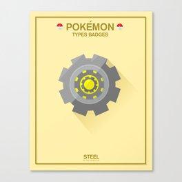 Pokémon Types Badges: Steel Type Canvas Print