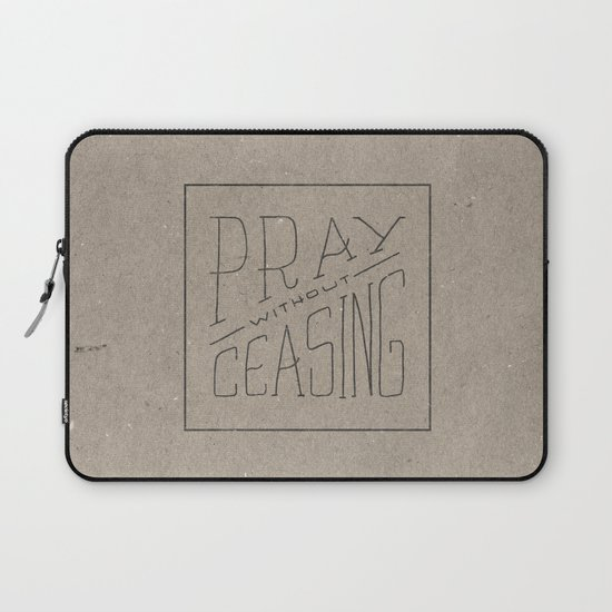 Pray without ceasing laptop sleeve by zeke tucker society6 for Pray without ceasing coloring page