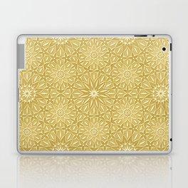 Rings of Flowers - Color: Naples Ochre Laptop & iPad Skin