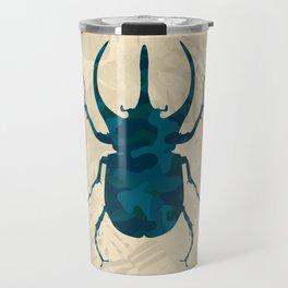 Original Camouflage Pattern Scarab Beetle Travel Mug