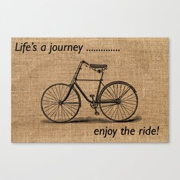 Life's A Journey Quote Canvas Print