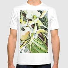 Darwins Orchid White MEDIUM Mens Fitted Tee
