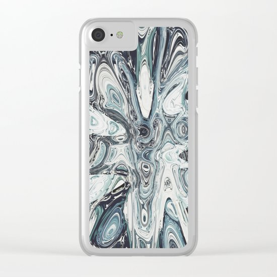 Abstract 141 Clear iPhone Case