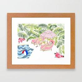 Poolside!  Framed Art Print