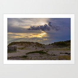 Beach Sunset in Cape Charles Art Print