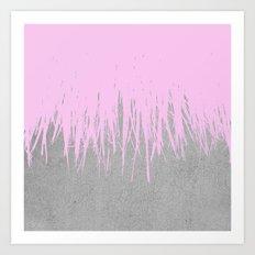 Concrete Fringe Blush Art Print
