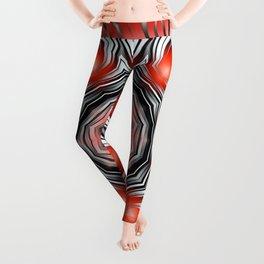 Mandala red 24 Leggings