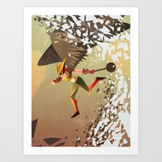Flying and Hitting Stuff is Awesome Art Print