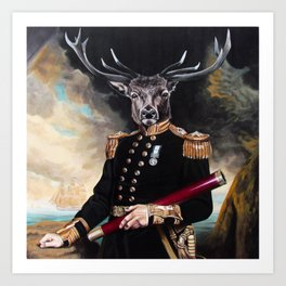 Yes My Deer Art Print