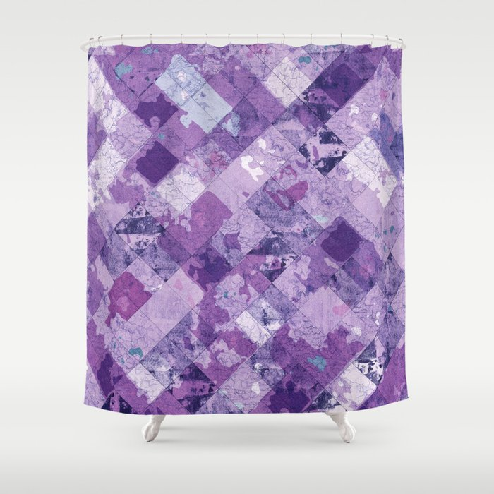 Abstract Geometric Background #30 Shower Curtain