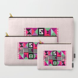 Violet Triangulation Carry-All Pouch