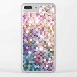 Rainbow glitter texture Clear iPhone Case