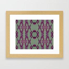 Blueberry lace Framed Art Print