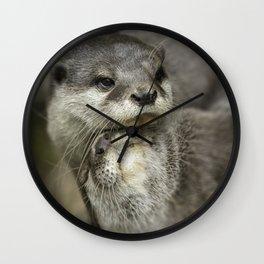 Otter Cuddle Wall Clock