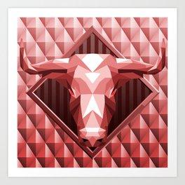 Bull Head Trophy 2 Art Print