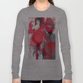 Spilled Paint Abstract Long Sleeve T-shirt