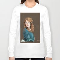 emma stone Long Sleeve T-shirts featuring Emma Stone by Artsy Rosebud