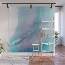 Marine blue watercolor ink Wall Mural