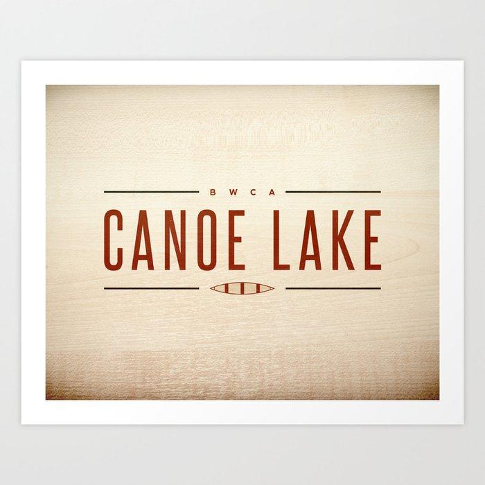 CANOE LAKE Art Print