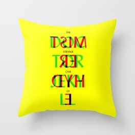 Dr Jekyll and Mr Hyde book cover by Robert Louis Stevenson Throw Pillow