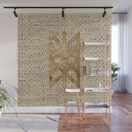 Web of Wyrd The Matrix of Fate - Vintage Gold Wall Mural