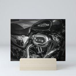 sunny chrome reflection Mini Art Print