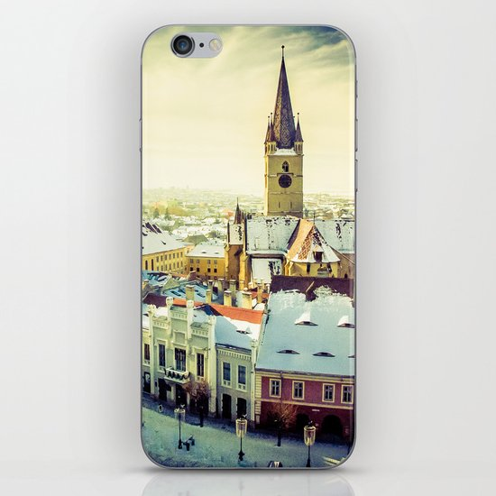 Cityscape of Sibiu, Romania iPhone & iPod Skin