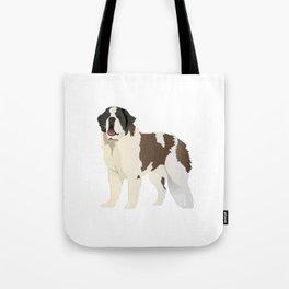 Saint Bernard Dog Tote Bag