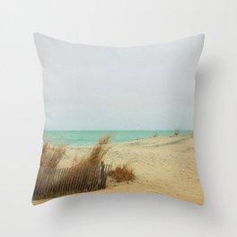 Aqua Sea Breeze Throw Pillow