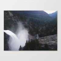 diablo Canvas Prints featuring Diablo Dam by Seymour Glass
