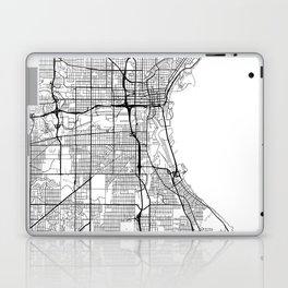 Milwaukee Map White Laptop & iPad Skin