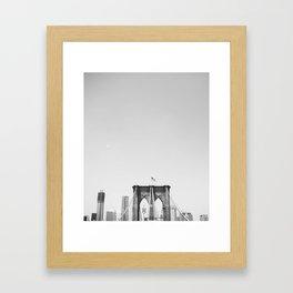 Fourth of July on Brooklyn Bridge Framed Art Print