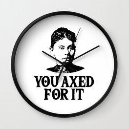Lizzie Borden - Funny True Crime Wall Clock