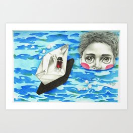 Monster from the deep Art Print