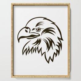 Eagle Bald Eagle American bird Head Serving Tray