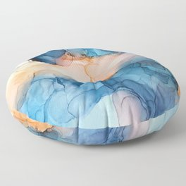 Captivate- Alcohol Ink Painting Floor Pillow