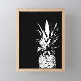 Pineapple Black and White #decor #society6 Framed Mini Art Print