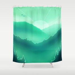 Foggy Morning Shower Curtain