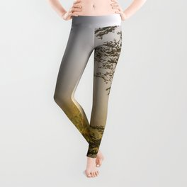 Mountains in the mist Leggings