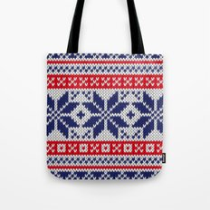 Winter knitted pattern 7 Tote Bag