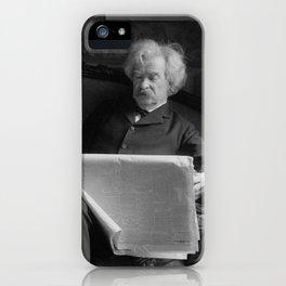Mark Twain - American Author and Humorist iPhone Case