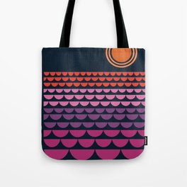 Gee Wiz - retro throwback minimal 70s style classic vibes sunset beach ocean socal 1970's poster Tote Bag