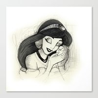jasmine Canvas Prints featuring Jasmine by Herself