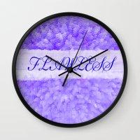flawless Wall Clocks featuring FLAWLESS by Saundra Myles