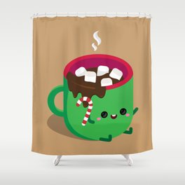 Baby Hot Chocolate Shower Curtain
