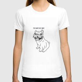 Frenchie-You make me smile! T-shirt