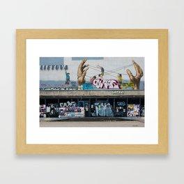 "Kino teatras ""Lietuva"" Framed Art Print"