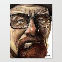 heisenberg Canvas Prints featuring Heisenberg by Al Barazi