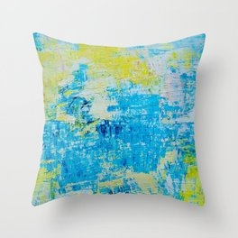 Abstract Acrylic Painting Bright Day Throw Pillow