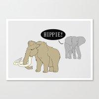 hippie Canvas Prints featuring Hippie by Digital Sketch